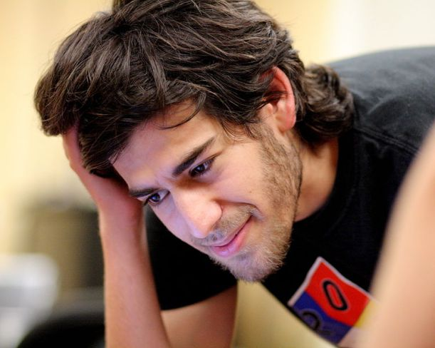 Aaron Swartz en el Boston Wikipedia Meetup, agosto de 2009.